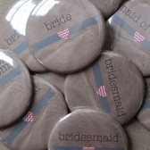 Kraft Bridesmaid Buttons