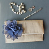 Navy and Gold Clutch