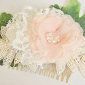 Blush Floral Wedding Headpiece