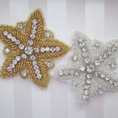 beaded starfish hair clip