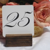 White Linen Table Number Signs