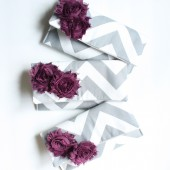 Plum and Grey Chevron Clutches
