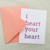 I Heart Your Heart Love Card