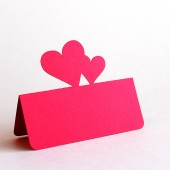 Double heart place card