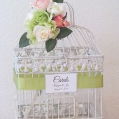 Garden Bouquet Birdcage Wedding Card Holder