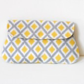 Diamond Ikat Clutch