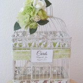 Garden Theme Birdcage Wedding Card Holder