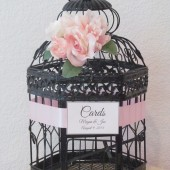 Black Shabby Chic Birdcage Wedding Card Holder