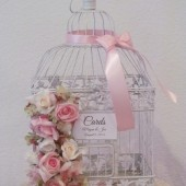 shabby Chic Birdcage Wedding Card Holder