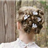 Pearl Wedding Hair Flowers