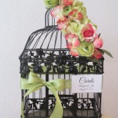 Tropical Birdcage Wedding Card Holder