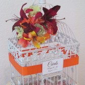 Tropibal Birdcage Wedding Card Holder