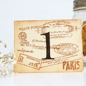 Paris Table Number Cards