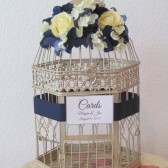Navy Blue wedding Birdcage Card Holder