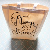 Always & Forever Large Thick Canvas Gift Bag