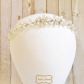 FancieStrands champagne wedding crown headpiece