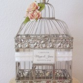 Romantic Shabby Chic Birdcage Wedding Card Holder
