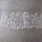 beaded lace sash
