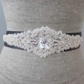 art deco beaded sash