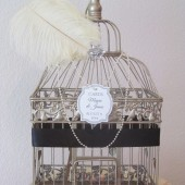 Art Deco Champagne Wedding Card Holder