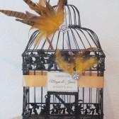 Art Deco Wedding Card Holder Birdcage