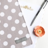 Gray Polka Dot Notepad Cover