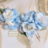 Blue Wedding Hair Flower, FancieStrands, Etsy, Handmade