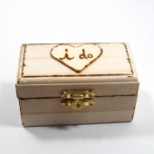 Rustic Wedding ring box or ring bearer box