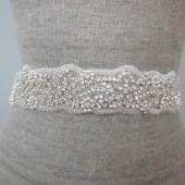 beach wedding rhinestone sash