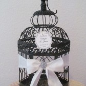 Black and White Wedding Card Holder with Bling