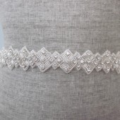 art deco rhinestone beaded sash