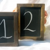 Framed Chalkboard Table Sign
