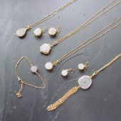 white druzy necklace , boho bride