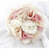 Brooch Bouquet Light Bridal Bouquet Jeweled Bouquet in Nude Champagne Tan Dusty Pink and Ivory