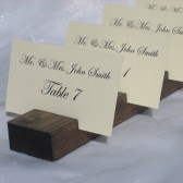 Ivory Linen Place Cards