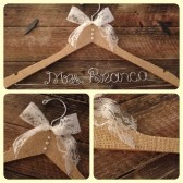 Burlap Covered Rustic Wedding Hanger