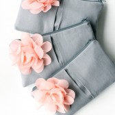 Peach and Gray Clutches