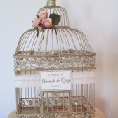 Vintage Shabby Chic Birdcage Card Holder