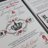 Las Vegas Playing Card Wedding Invitation