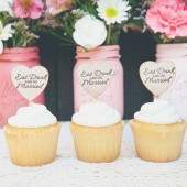 Eat, Drink and Be married Cupcake Toppers