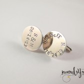 Personalized Cufflinks with Coordinates