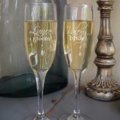 Engraved Champagne Glass