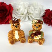 bear cake topper, custom cake topper, Teddy bear cake topper, wedding cake topper, animal cake topper, cute cake topper, etsy, wedding bears, hand made cake topper, personalized cake topper