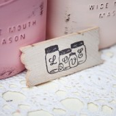 Love Mason Jar Favor Magnets