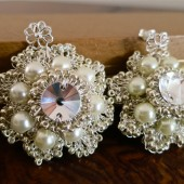 Ivory Pearl Bridal Earrings