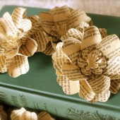 book Pages Inspired Paper Flowers
