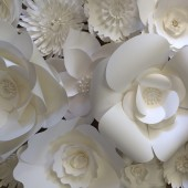 White Paper Flower Backdrop