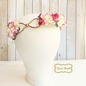 Pink Floral Wedding Crown