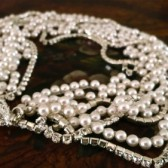 Pearl Chunky Bridal Rhinestone Necklace