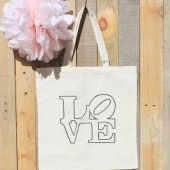 Philadelphia Wedding LOVE Statue Welcome Bag